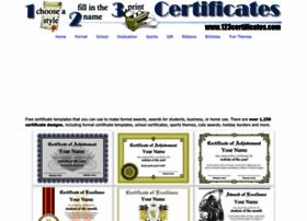 123certificates.com