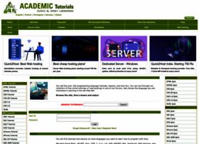 academictutorials.com