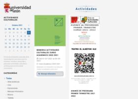 actividadesculturales.unileon.es
