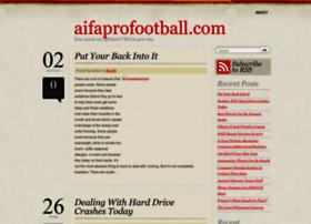 aifaprofootball.com