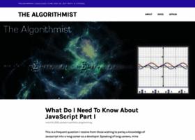 Algorithmist.wordpress.com