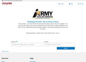 Armycivilianservice.usajobs.gov