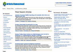 articlehomestead.com