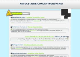 astuce-aide.conceptforum.net