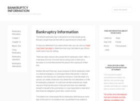 bankruptcyinformation.com