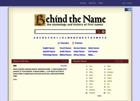 behindthename.com