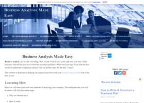 Business-analysis-made-easy.com