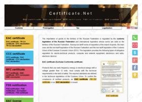 certificate.net