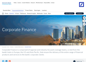 corporatefinance.db.com
