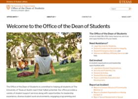 deanofstudents.utexas.edu