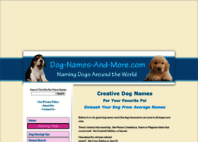 dog-names-and-more.com