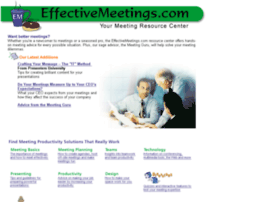 effectivemeetings.com