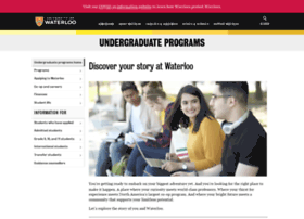 findoutmore.uwaterloo.ca