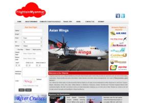 flightsinmyanmar.com