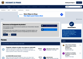 Forums-enseignants-du-primaire.com