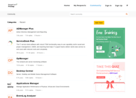 Forums.manageengine.com