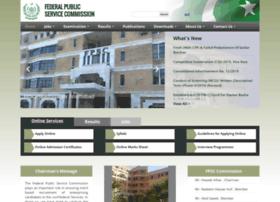fpsc.gov.pk