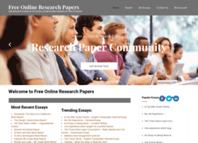 Freeonlineresearchpapers.com