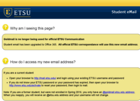 Goldmail.etsu.edu