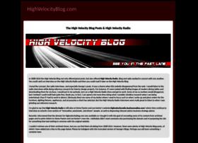 Highvelocityblog.com