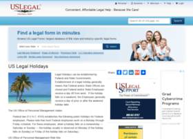 holidays.uslegal.com