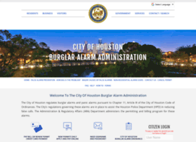 Houstonburglaralarmpermits.org