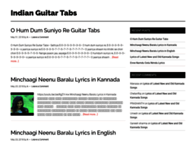 indianguitartabs.com