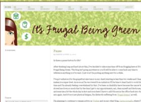 itsfrugalbeinggreen.com