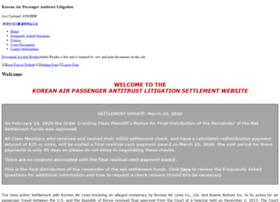 Koreanairpassengercases.com