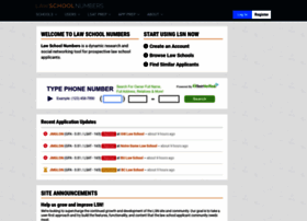 Lawschoolnumbers.com