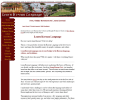 learnkoreanlanguage.com