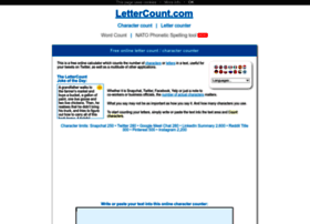 lettercount.com