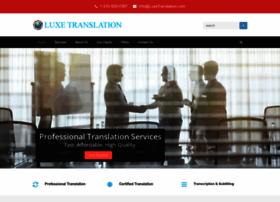luxetranslation.com