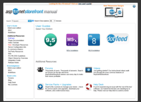 Manual.aspdotnetstorefront.com