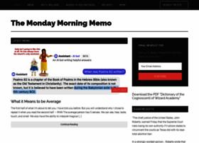 Mondaymorningmemo.com