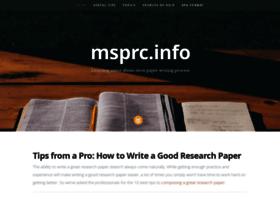 Msprc.info