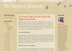 mykitchensnippets.com