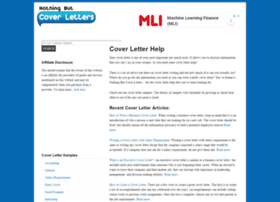 nothingbutcoverletters.com