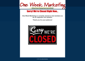 oneweekmarketing.com