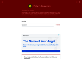 peteranswers.com