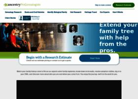 progenealogists.com