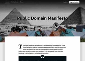 Publicdomainmanifesto.org