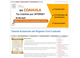 Registrocivilcoahuila.gob.mx