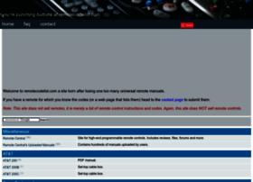 remotecodelist.com
