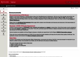 sakai.rutgers.edu