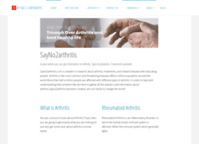 sayno2arthritis.com