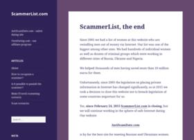 scammerlist.com