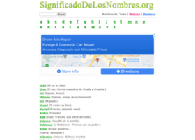 significadodelosnombres.org