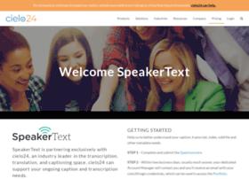 speakertext.com