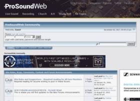 srforums.prosoundweb.com